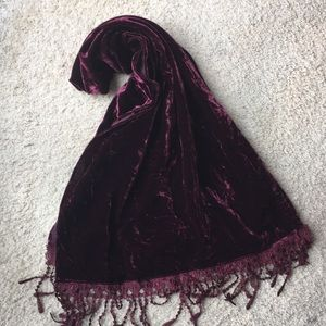 Accessories - Velvet scarf, shawl NWT
